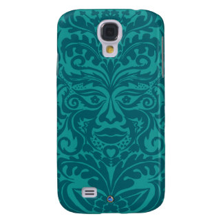 Green man in Turquoise & Teel Samsung Galaxy S4 Case