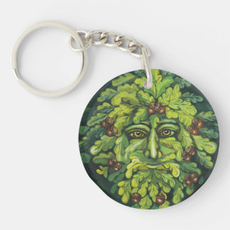 Green Man Key Chain