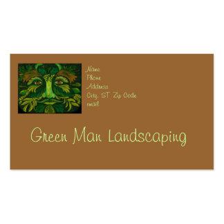 Green Man Landscaping or Gardener Business Card