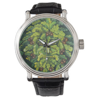 Green Man Mens Watch