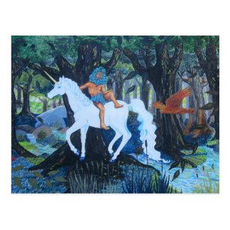 Green Man 'n Unicorn Postcard