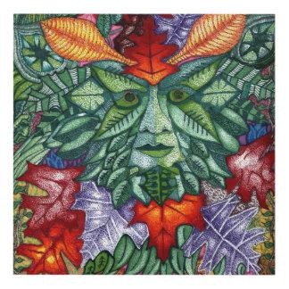 Green Man Panel Wall Art
