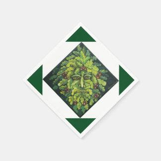 Green Man Paper Napkins