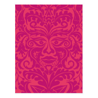 GREEN MAN Pink Post Cards