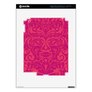 GREEN MAN Pink Skins For iPad 3