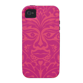 GREEN MAN Pink Vibe iPhone 4 Case