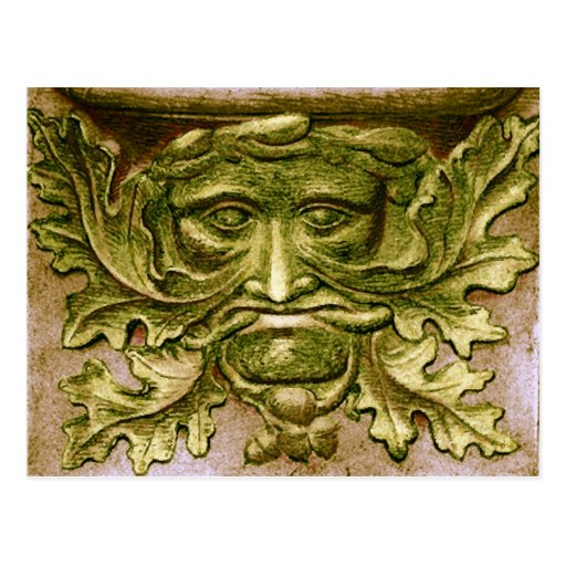 Green Man - Post Card