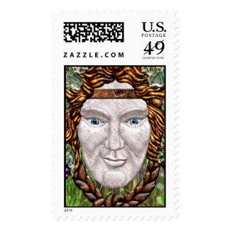 Green Man - Postage Stamp