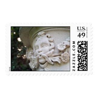 Green Man Postage Stamp