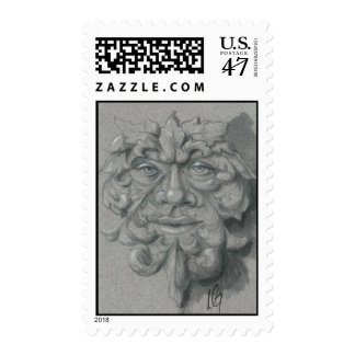 Green Man Postage Stamps