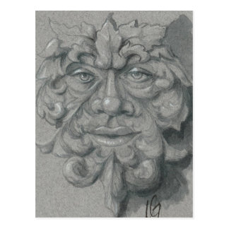 Green Man Postcard