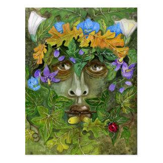 Green man postcard