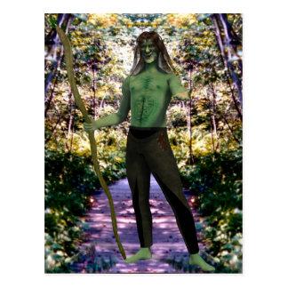 Green Man's Welcome Postcard