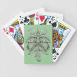 Green Man Silver Poker Cards