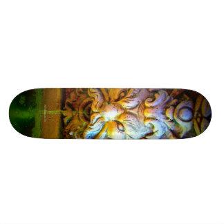 Green man skateboard
