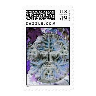 Green Man Stamp