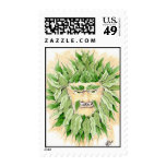 green man stamps for environmental awareness