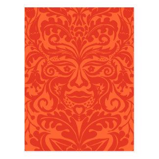GREEN MAN Tangerine Postcard