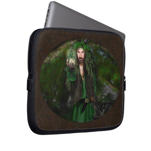 Green Man Triskel Computer Sleeve