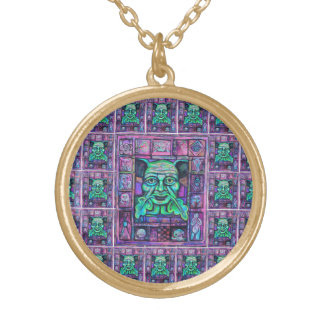 Green Man Wiccan Imagery Necklace Medallion