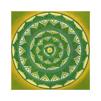 Green Mandala Canvas Print