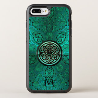 Green Mandala Celtic Knot Monogram iPhone 7 Case