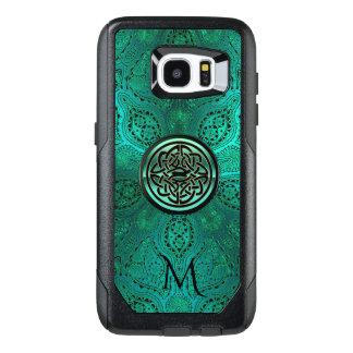 Green Mandala Celtic Knot Monogram S7 Edge Case
