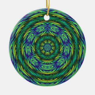 Green Mandala Christmas Ornament