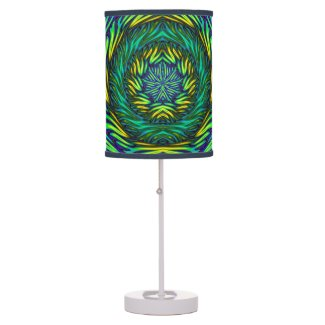 Green Mandala Desk Lamp