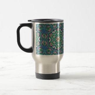 """Green Mandala"" Insulated Mug: choose color Travel Mug"