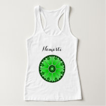 Green Mandala Lotus Yoga Namaste Typography Custom Tank Top