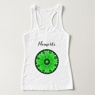 Green Mandala Lotus Yoga Namaste Typography Custom Tank Top