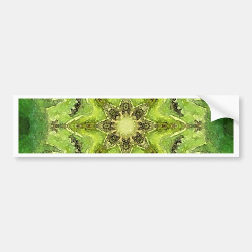 Green mandala ''Meadow' Bumper Sticker