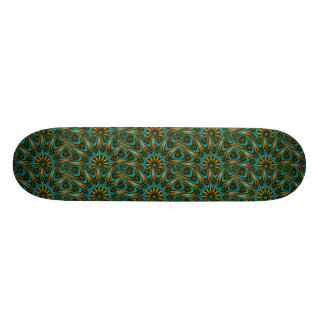 Green Mandala Skateboard