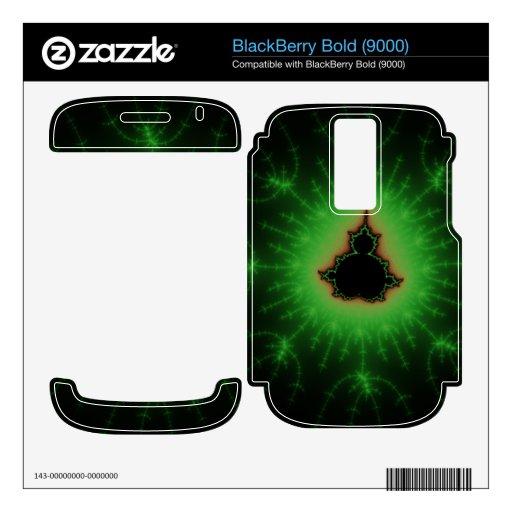 Green Mandelbrot Explosion Decals For BlackBerry