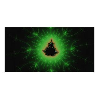 Green Mandelbrot Set Card