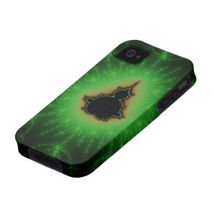 Green Mandelbrot Set Case-Mate iPhone 4 Case