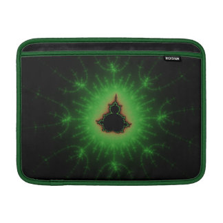 Green Mandelbrot Set MacBook Sleeve