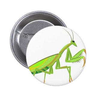 Green Mantis Vector Button
