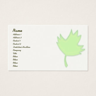Green Maple Leaf Profile Card
