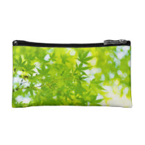 Green Maple Leaves Accessory Bag