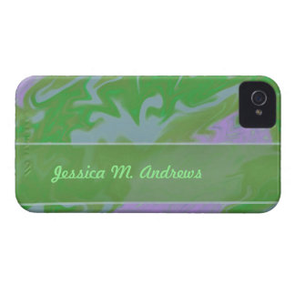 green marbelized iPhone 4 cover