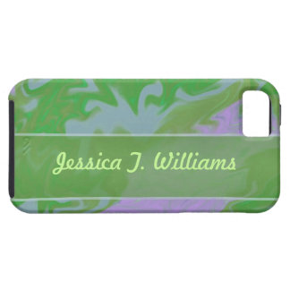 green marbelized iPhone SE/5/5s case