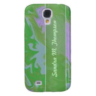green marbelized samsung galaxy s4 case