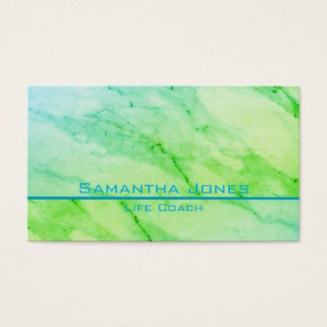 Professional Business Green Marble Business Card
