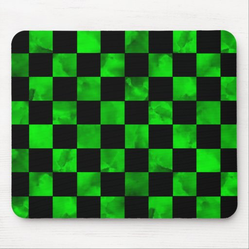 Green marble Checkerboard Mouse Pad