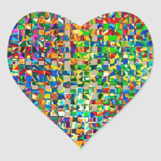 GREEN Marble Checks : Graphic Creation Heart Sticker
