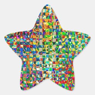 GREEN Marble Checks : Graphic Creation Star Sticker