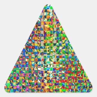 GREEN Marble Checks : Graphic Creation Triangle Sticker