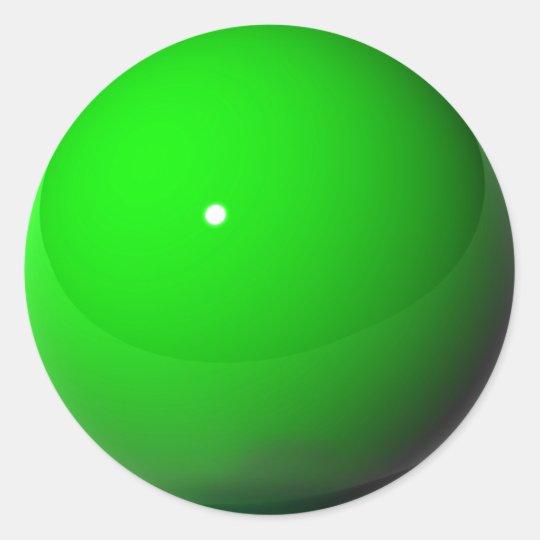 Green Marble Classic Round Sticker